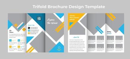 Travel tour agency trifold Brochure Design template vector
