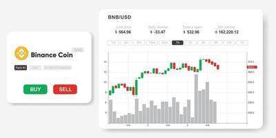 ETH market infographics vector