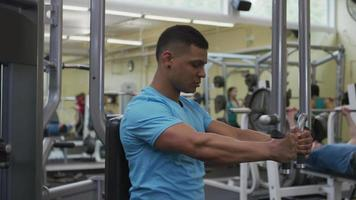 Man working out at gym video
