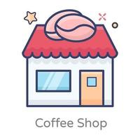 Coffee Shop and Cafeteria vector
