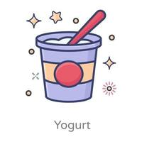 Yogurt cup style vector