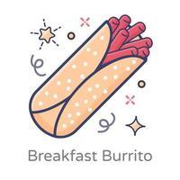 Breakfast Burrito Rolls vector