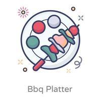 Bbq Platter Tray vector