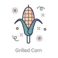diseño de maíz a la parrilla vector