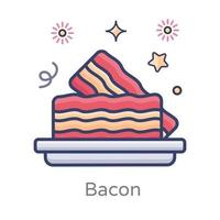 Bacons Served in a Tray vector