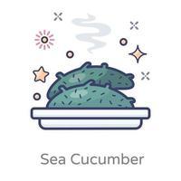 Sea Cucumber Food vector