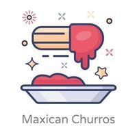 churros mexicanos modernos vector