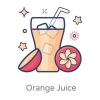 Juice and Refreshing Drink vector