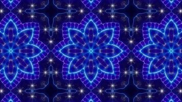 Fast Blinking Neon Light Kaleidoscope Full video