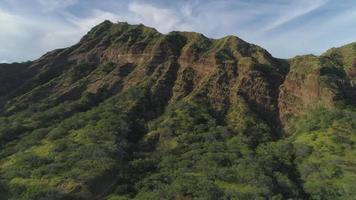Diamond Head Crater aerial view, Oahu, Hawaii video