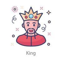 King Jewel Studded vector