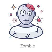 Zombie a Dead Person vector