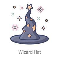 Wizard Hat Design vector