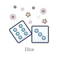 juego de casino de dados vector