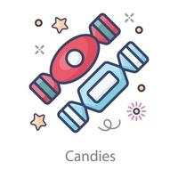 Wrapped Toffees and Candies vector