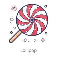 Lollipop Swirl candy vector