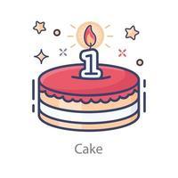 1st Birthday Cake vector