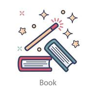 Spell or Magic Book vector