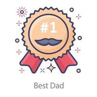 Best Dad Badge vector