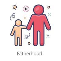 Kid Denoting Fatherhood vector