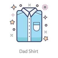 camisa formal de papá vector