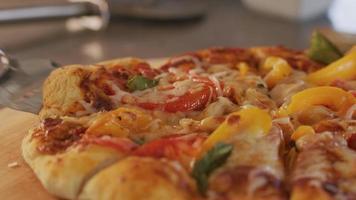 portion de tranche de pizza video