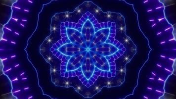 Kaléidoscope à floraison rapide clignotant au néon video