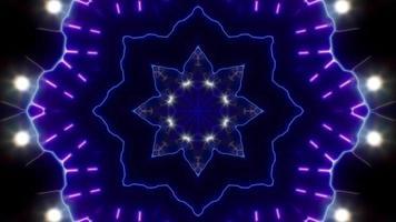 fleur clignotant néon kaléidoscope video