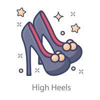 High Heels ladies vector