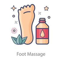 masaje relajante de pies vector