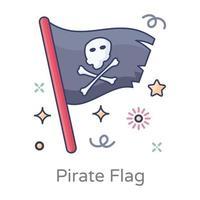 diseño de bandera pirata vector