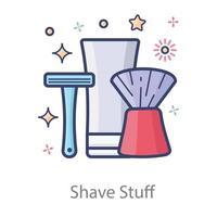 Shaving Kit Design vector