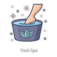 diseño de spa para pies vector