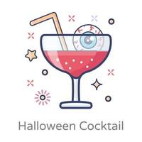 Scary Refreshing Cocktail vector