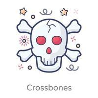 Cross Bones design vector