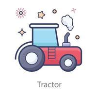 Tractor in Modern vector