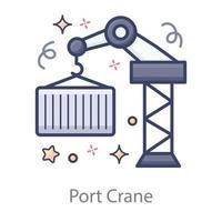 transporte de grúa portuaria vector