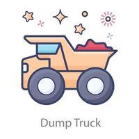 Heavy Dump Truck vector