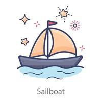 Sailboat and Yacht vector