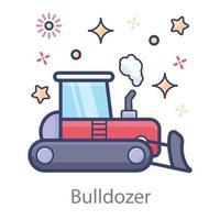 Bulldozer in Design vector