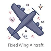 Fixed Wing Aircraft vector