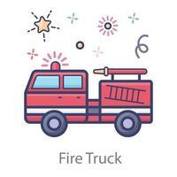Trendy Fire Truck vector