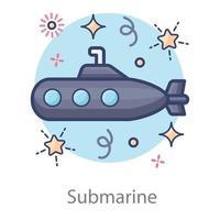 Submarine Underwater torpedo vector
