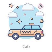 taxi transporte local vector
