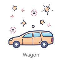 Beautiful Wagon Design vector