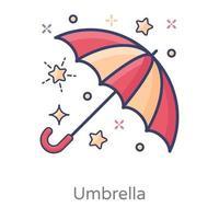toldo circular de paraguas vector