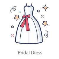 Bridal or Wedding Dress vector