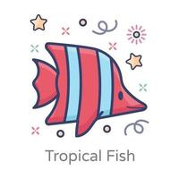 Peppermint Angelfish Side View vector