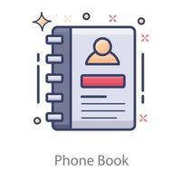 Phone Book concept vector
