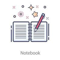 cuaderno con dibujo a lápiz vector